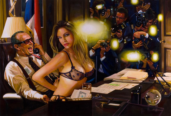Tos kostermans realistic funny paintings - Chicquero Arts - President Jack Nickolson