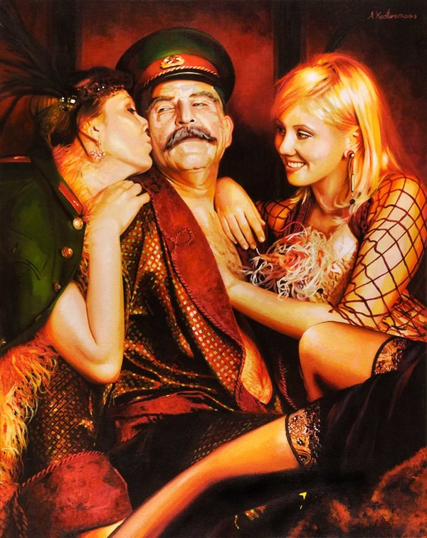 Tos kostermans realistic funny paintings - Chicquero Arts - Russian dictators