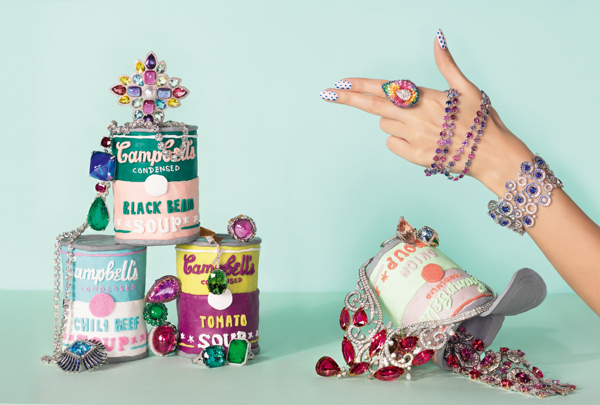 Alexandra Bruel - Vogue Pop art jewelry - Chicquero - Campbells Soup 1