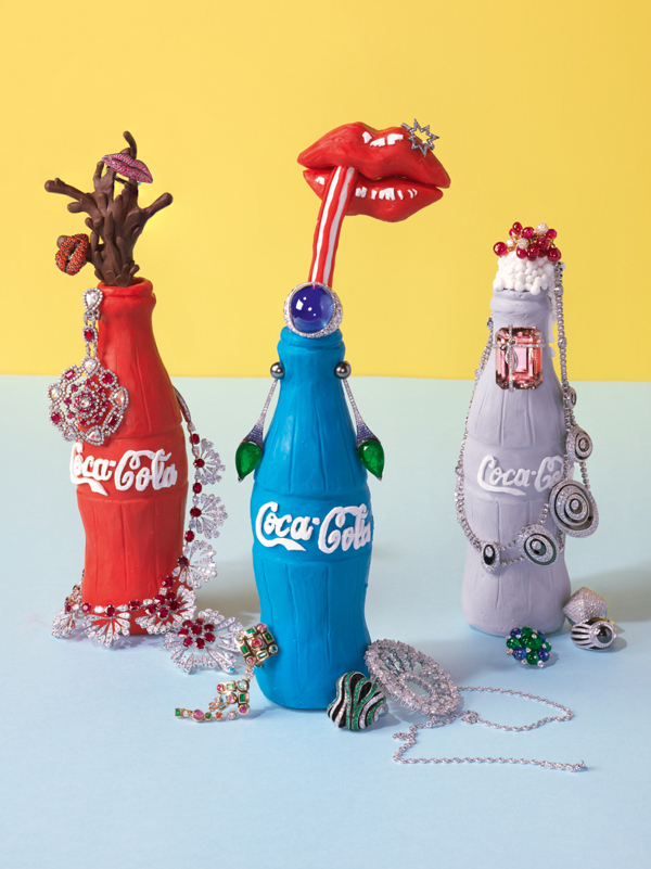 Alexandra Bruel - Vogue Pop art jewelry - Chicquero - Coke Bottle