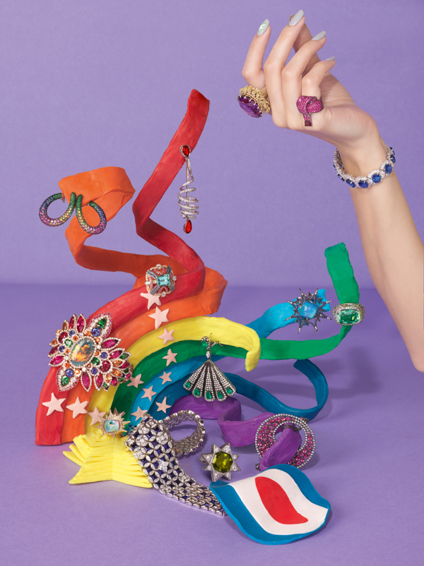 Alexandra Bruel - Vogue Pop art jewelry - Chicquero - Rainbow 1