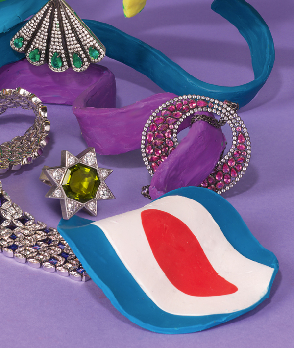 Alexandra Bruel - Vogue Pop art jewelry - Chicquero - Rainbow 2