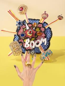 Alexandra Bruel - Vogue Pop art jewelry - Chicquero - Roy lichtenstein boom 1