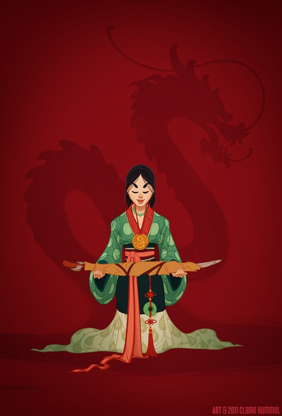Disney Princess in accurate period clothing - Chicquero Fashion - 2 Mulan