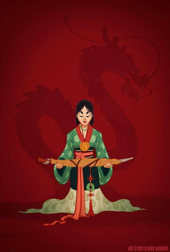 Disney Princess in accurate period clothing - Chicquero Fashion - 2 Mulan