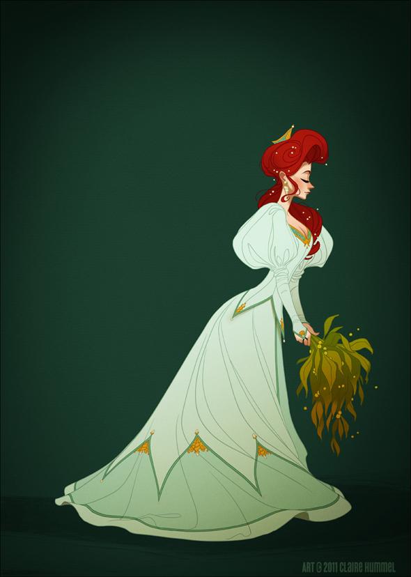 Disney Princess in accurate period clothing - Chicquero Fashion - Ariel