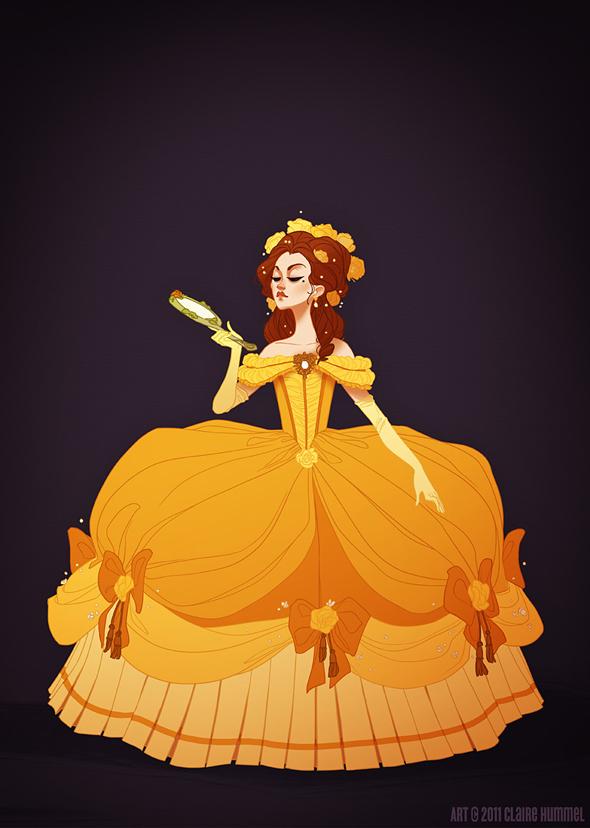 Disney Princess in accurate period clothing - Chicquero Fashion - Belle