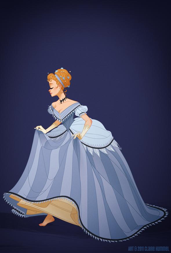 Disney Princess in accurate period clothing - Chicquero Fashion - Cinderella