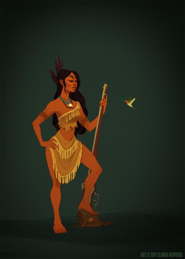 Disney Princess in accurate period clothing - Chicquero Fashion - Pocahontas