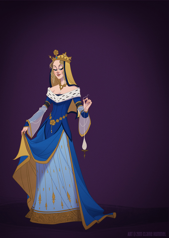 Disney Princess in accurate period clothing - Chicquero Fashion - Sleeping Beauty