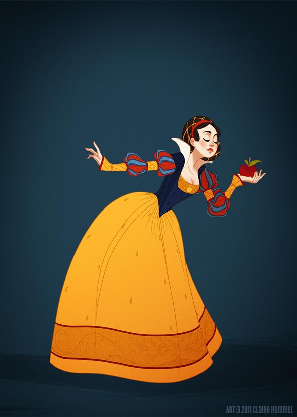 Disney Princess in accurate period clothing - Chicquero Fashion - Snow white
