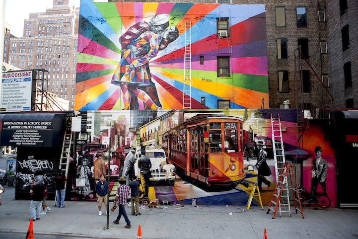 03 Eduardo Kobra painter - urban street art chicquero -  Mural brazil