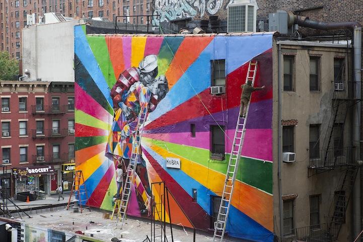 04 Eduardo Kobra painter - urban street art chicquero -  Mural brazil