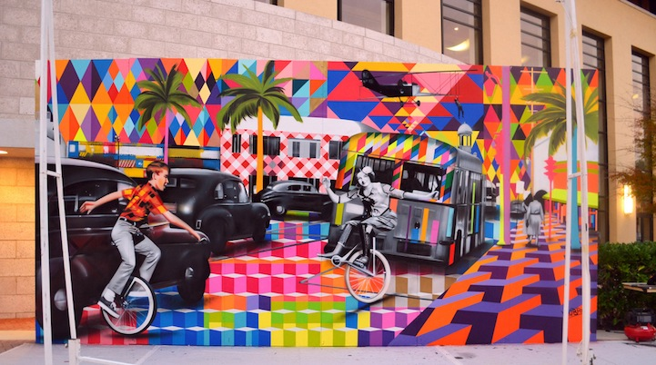 Palms beach street artists time squares artists eduardo for Mural eduardo kobra