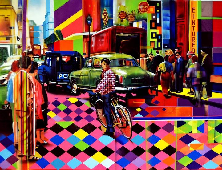 06 Eduardo Kobra painter - urban street art chicquero -  Mural brazil