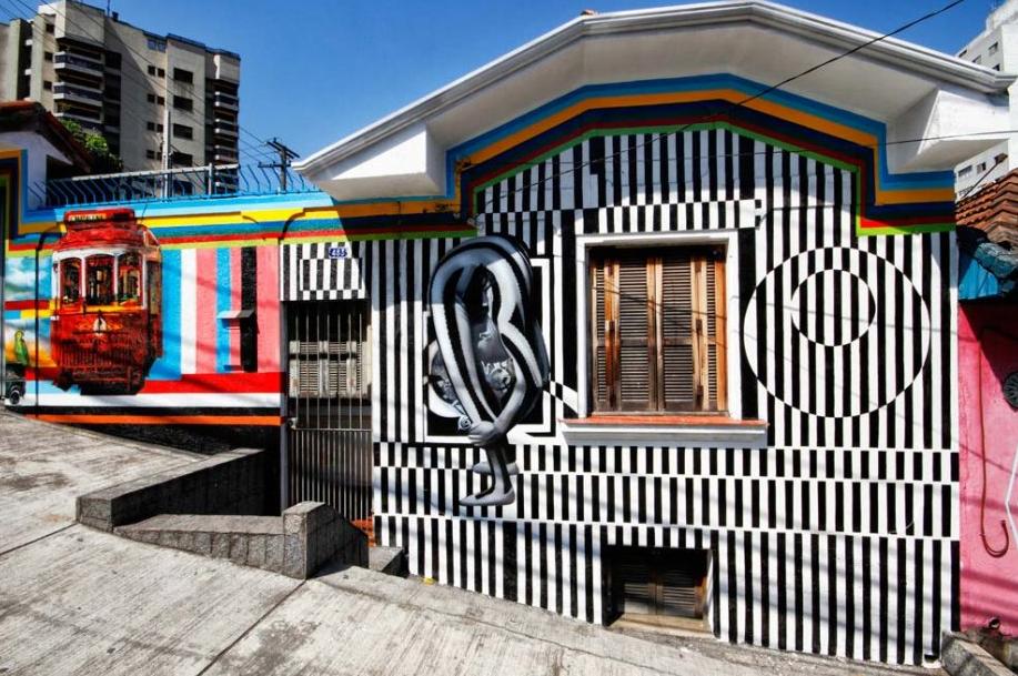 Eduardo Kobra painter - urban street art chicquero -  Mural Brazil 3