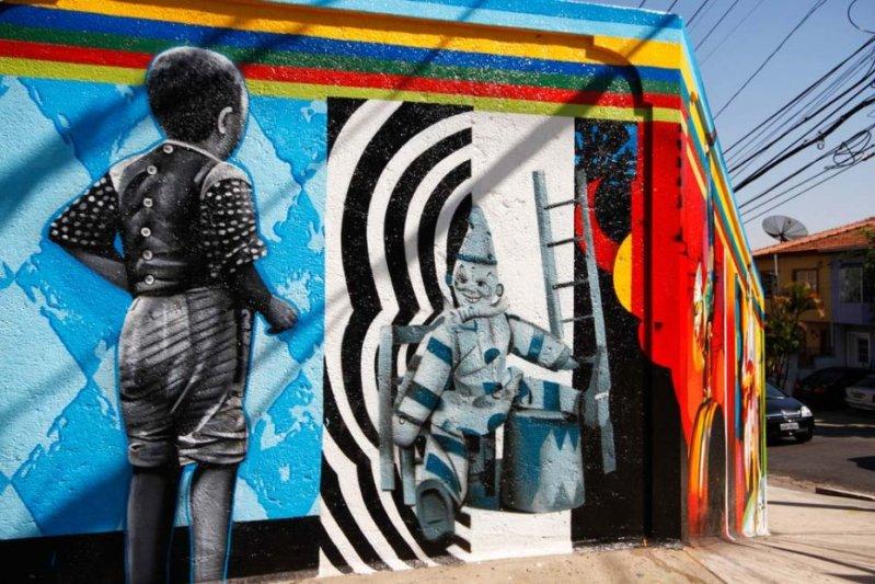 Eduardo Kobra painter - urban street art chicquero -  Mural vila_madalena_002_web