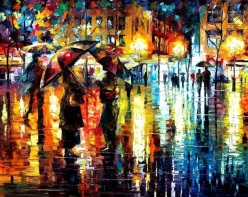 Leonid Afremov paintings palette knife and oil paint - Chicquero Artsy arts - 01