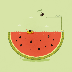 2 Funny Cool Illustrations Chicquero watermellow